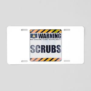 Warning: Scrubs Aluminum License Plate