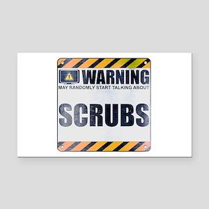 Warning: Scrubs Rectangle Car Magnet