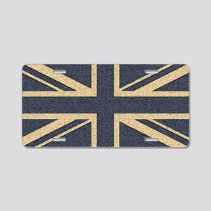 Union Jack Aluminum License Plate