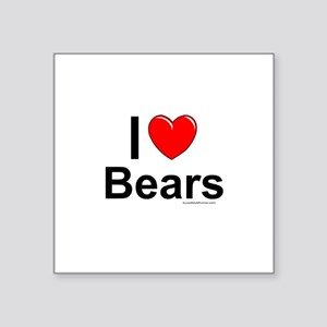 "Bears Square Sticker 3"" x 3"""
