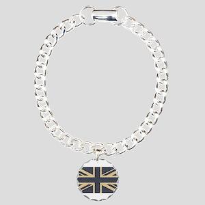 Union Jack Charm Bracelet, One Charm