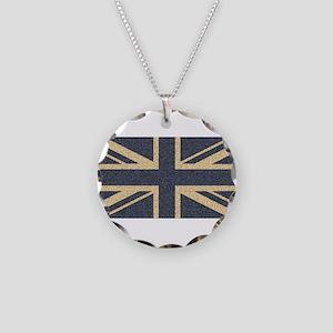 Union Jack Necklace Circle Charm