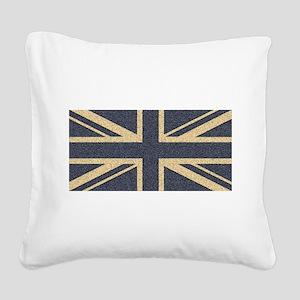 Union Jack Square Canvas Pillow