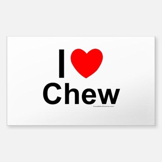 Chew Sticker (Rectangle)