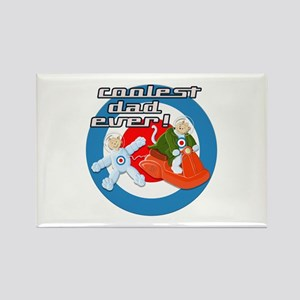 Space Cats Coolest Dad Ever Rectangle Magnet