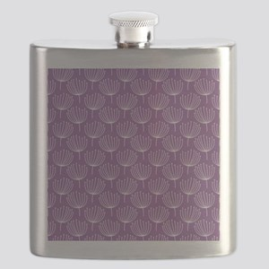 Abstract Dandelions on Purple Flask