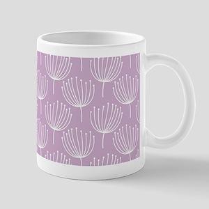 Abstract Dandelions on Pastel Lavender Mug