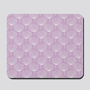 Abstract Dandelions on Pastel Lavender Mousepad