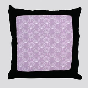 Abstract Dandelions on Pastel Lavende Throw Pillow