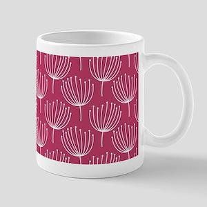 Abstract Dandelions on Rose Pink Mug