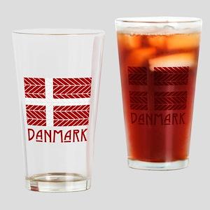 Chevron Danmark Drinking Glass