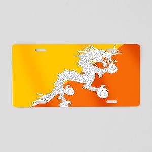 Flag of Bhutan Aluminum License Plate