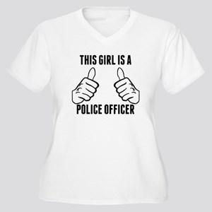 This Girl Is A Police Officer Plus Size T-Shirt
