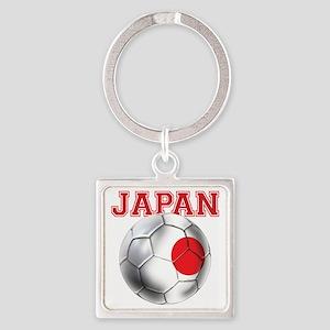 Japan Football Square Keychain