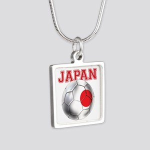 Japan Football Silver Square Necklace