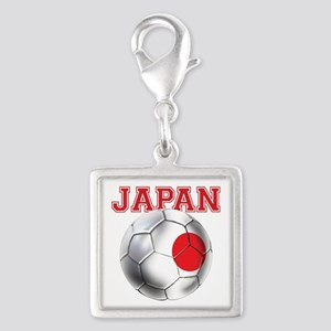 Japan Football Silver Square Charm