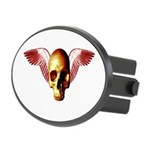 Flying Skull Oval Hitch Cover