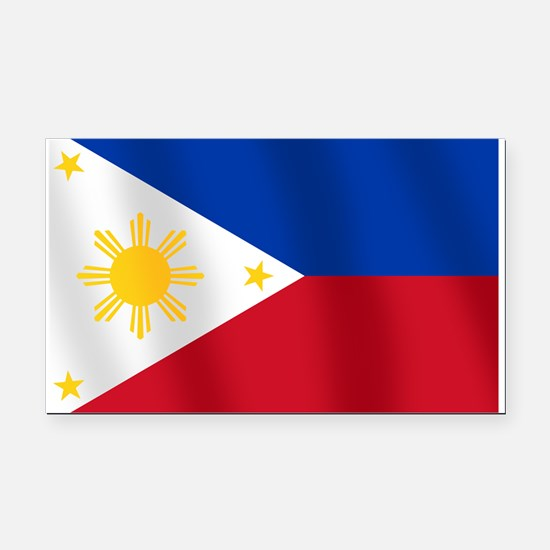 Philippines Flag Rectangle Car Magnet