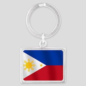 Philippines Flag Landscape Keychain