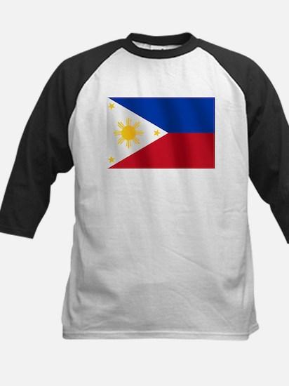 Philippines Flag Kids Baseball Jersey