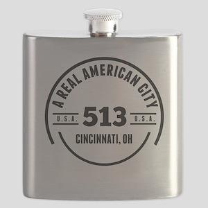 A Real American City Cincinnati OH Flask