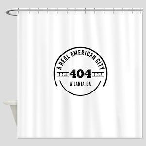 A Real American City Atlanta GA Shower Curtain
