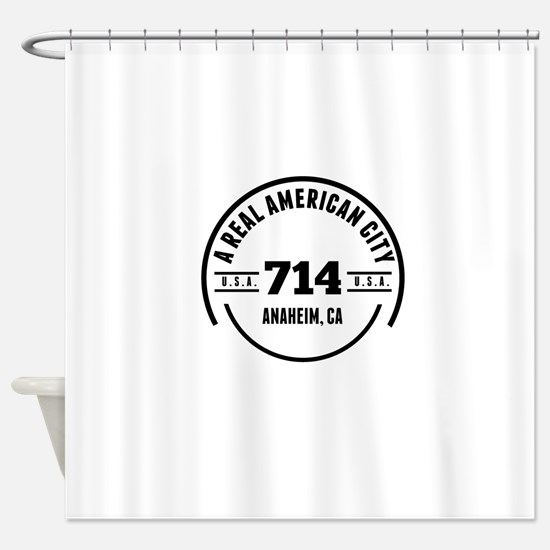 A Real American City Anaheim CA Shower Curtain