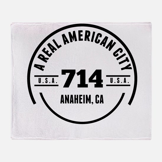 A Real American City Anaheim CA Throw Blanket