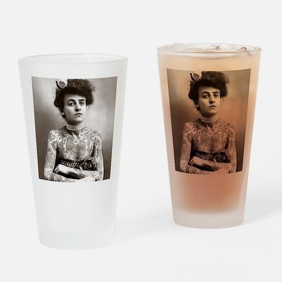 Tattooed Lady, 1907 Drinking Glass