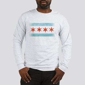 Chicago Flag Long Sleeve T-Shirt