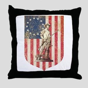 Concord Minuteman, Shield Throw Pillow