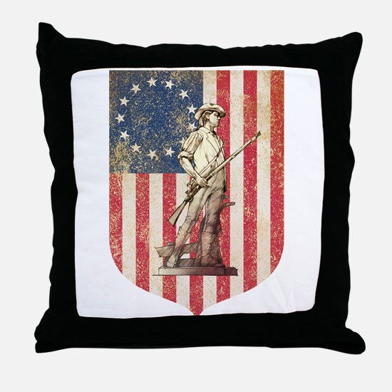 Concord Minuteman, Shield Throw Pillow