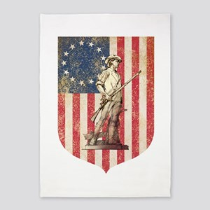 Concord Minuteman, Shield 5'x7'Area Rug