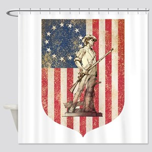 Concord Minuteman, Shield Shower Curtain