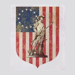 Concord Minuteman, Shield Throw Blanket