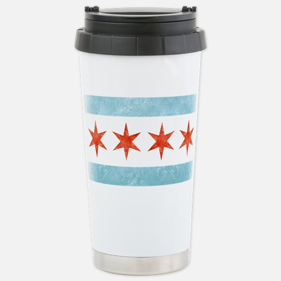 Chicago Flag Stainless Steel Travel Mug