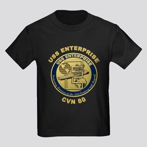 USS Enterprise CVN-80 Kids Dark T-Shirt