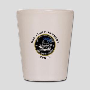 USS John Kennedy CVN-79 Shot Glass