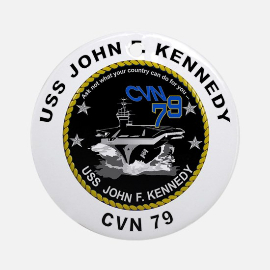 USS John Kennedy CVN-79 Ornament (Round)