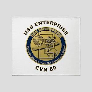 USS Enterprise CVN-80 Throw Blanket