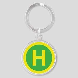 Helipad Sign Keychains