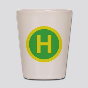 Helipad Sign Shot Glass