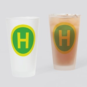 Helipad Sign Drinking Glass