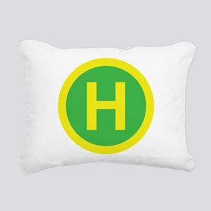 Helipad Sign Rectangular Canvas Pillow