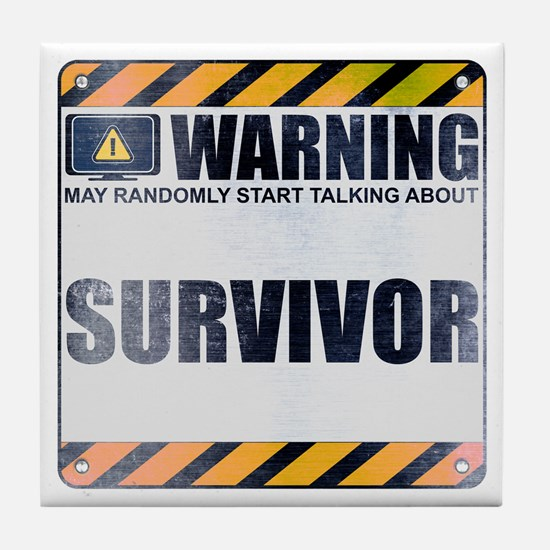 Warning: Survivor Tile Coaster