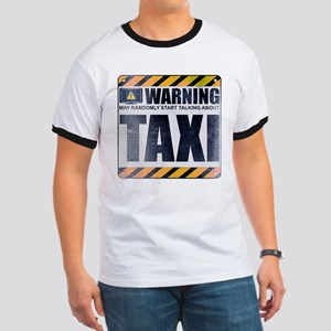 Warning: Taxi Ringer T-Shirt