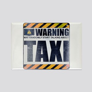 Warning: Taxi Rectangle Magnet