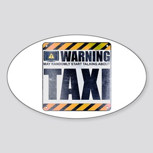 Warning: Taxi Oval Sticker