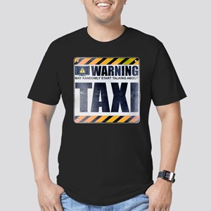 Warning: Taxi Men's Dark Fitted T-Shirt