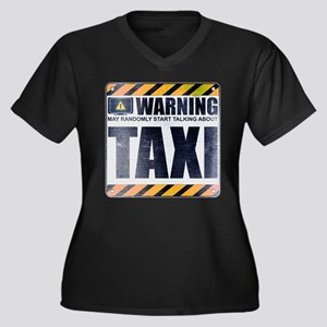Warning: Taxi Women's Dark Plus Size V-Neck T-Shir